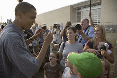 U.S. Senator Barak Obama. Campaigning for President at Iowa State Fair in Des Moines Iowa, August 16, 2007 Stock Photo