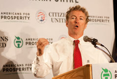 U.S. Senator Rand Paul, R-Kentucky, speaks in Manchester, New Hampshire Stock Photos