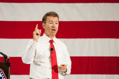 U.S. Senator Rand Paul, R-Kentucky, speaks in Nashua, New Hampshire, on April 18, 2015. U.S. Senator Rand Paul, Republican of Kentucky, speaks in Nashua, NH stock photography