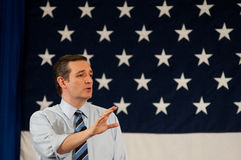 U S Senator Ted Cruz, r-Texas, spreekt in Nashua, New Hampshire, op 18 April, 2015 stock foto