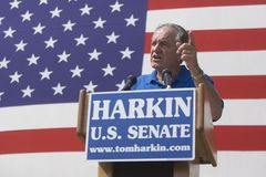 U.S. Senator Tom Harkin of Iowa. Iowa Sen. Tom Harkin speaking at his annual steak fry in Indianola, Iowa, on Sept. 13, 2009 royalty free stock photography