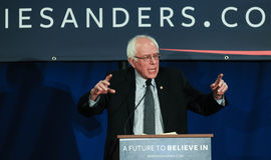 U S Senatora Bernie Sanders Vermont prowadzą kampanię w Bedford, NH, Styczeń 22, 2016 Obrazy Royalty Free
