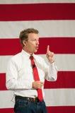 U S Senatora skraj Paul, Kentucky, mówi w Nashua, New Hampshire, usa, na Kwietniu 18, 2015 Fotografia Stock