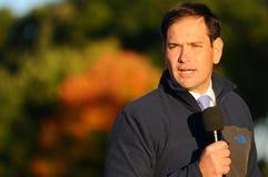 U S Senatorn Marco Rubio, republikan av Florida, talar i Bedford, New Hampshire på Oktober 6, 2015 Arkivfoto
