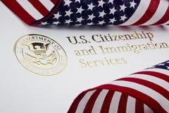 U.S. Service de logo de garantie de patrie Photographie stock libre de droits