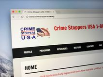 U S a sito Web di crimestoppers del ` s Fotografia Stock Libera da Diritti
