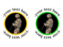 U.S soldier badge or sticker Stock Photography