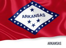 U S stanu Arkansas flaga ilustracji