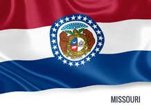 U S stanu Missouri flaga zdjęcia royalty free