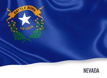U S stanu Nevada flaga zdjęcia royalty free