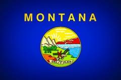 Flag of Montana. U.S. stat flag of Montana - background vector illustration