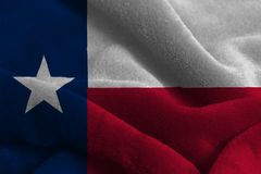 U.S. state flag of Texas. Background close up royalty free stock photos