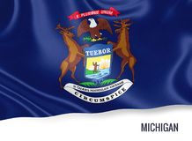 U.S. state Michigan flag. Royalty Free Stock Photography