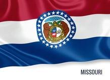 U.S. state Missouri flag. Royalty Free Stock Photos