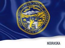 U.S. state Nebraska flag. Stock Photo