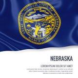 U.S. state Nebraska flag. Royalty Free Stock Photos
