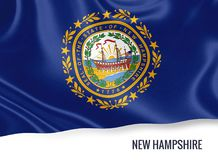 U.S. state New Hampshire flag. Stock Photos