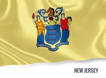 U.S. state New Jersey flag. Royalty Free Stock Photos