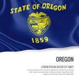 U.S. state Oregon flag. Royalty Free Stock Images
