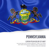 U.S. state Pennsylvania flag. Stock Photography