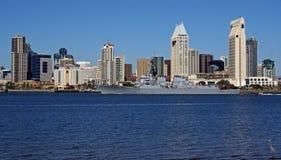 Statek wojenny w San Diego Fotografia Royalty Free