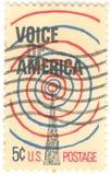 U.S. Stimme des Amerika-Stempels Stockfoto