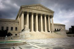 U.S. Supreme Court. Building located in Washington, D.C. (USA stock image