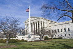 U.S. Supreme Court. Supreme court captured on a sunny winter day Stock Image