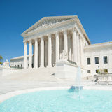 U.S. Supreme Court. The front entrance to the U.S. Supreme Court stock photo