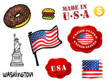 U S A symbols Royalty Free Stock Images