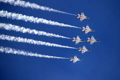 U.S. Thunderbirds da força aérea Fotos de Stock Royalty Free