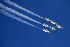 U.S. Thunderbirds da força aérea Fotografia de Stock