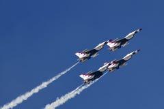 U.S. Thunderbirds de la fuerza aérea Imágenes de archivo libres de regalías