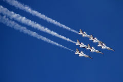 U.S. Thunderbirds dell'aeronautica Fotografia Stock