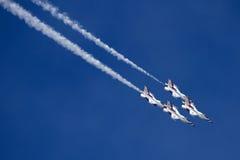 U.S. Thunderbirds dell'aeronautica Fotografie Stock