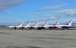 U S Thunderbirds dell'aeronautica Fotografie Stock