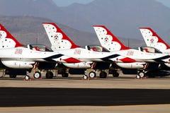 U S Thunderbirds dello show aereo dell'aeronautica Fotografia Stock