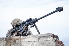 U S Tireur isolé d'armée images stock