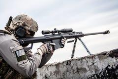 U S Tireur isolé d'armée Photographie stock libre de droits