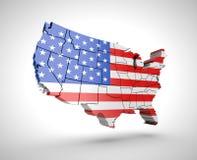 U S tracez avec l'effet d'ombre sur un fond gris Photographie stock