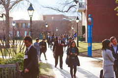 06 04 2011, U.S.A., università di Harvard, Aldrich, Spangler, studenti Fotografie Stock