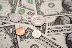 U.S. valuta Fotografie Stock Libere da Diritti