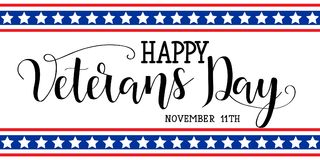 Happy Veterans Day. November 11th, United state of America Royalty Free Stock Images