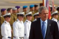 U.S. Visita di presidente George W. Bush ad Israele Immagini Stock Libere da Diritti