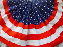U.S. vlag geplooide ventilator Stock Afbeelding