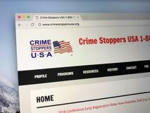 U S A Web site dos crimestoppers do ` s Foto de Stock Royalty Free