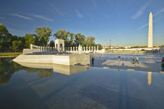 U S Weltkrieg-gedenkender Erinnerungszweiter Weltkrieg in Washington Gleichstrom nachts C Stockfotografie