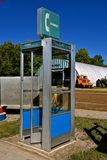 U.S. West telephone booth at a farm show Royalty Free Stock Photography