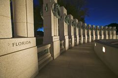 U.S. World War II Memorial Royalty Free Stock Photography