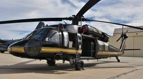 U S Zwyczaje UH-60 Blackhawk i patrol graniczny fotografia royalty free